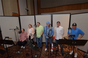 "Pictured in Ocean Way's historic Studio A are Beach Boys (L-R) Brian Wilson, Al Jardine, ""Vice Principal"" Jeffrey Foskett, Mike Love, David Marks, and Bruce Johnston.  Photo by David Goggin."