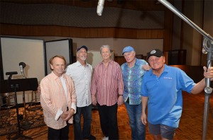 (L-R) Al Jardine, David Marks, Brian Wilson, Mike Love, Bruce Johnston.  Photo by David Goggin.