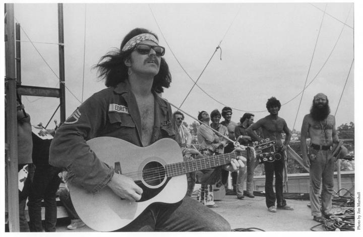 Country Joe at Woodstock, 1969.  Photo by Jim Marshall