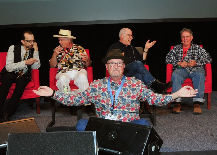 My cool panel (L-R) Mario, Peter, Joel and Joe.  The capper was when Country Joe lead the infamous F**K cheer and brought the house down!  Thank you, legends!